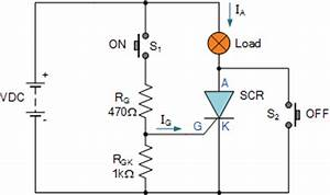 thyristor circuit and thyristor switching circuits With how to make simple scr circuits
