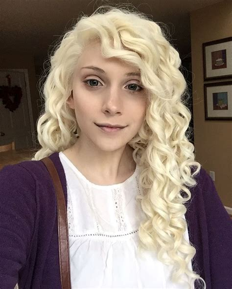 pale golden blonde curly wig long synthetic wigs edw