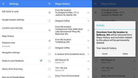 how to clear history on android how to clear search and location history in maps on