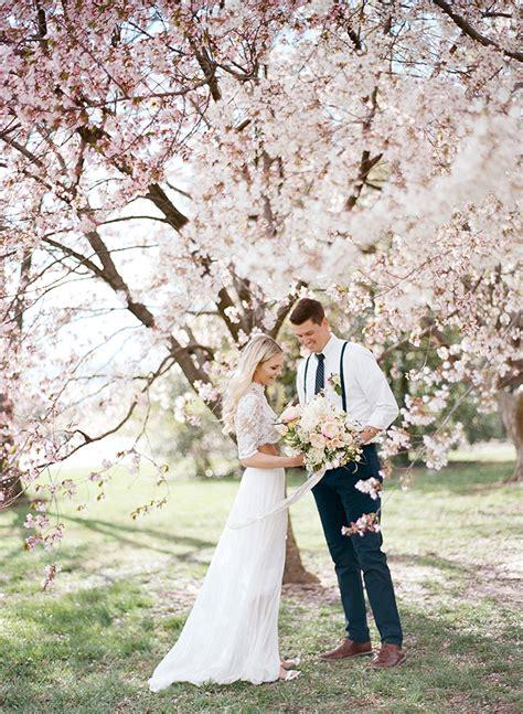 Dc Cherry Blossom Wedding Shoot On Film Hey Wedding Lady