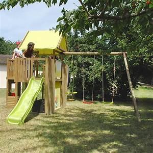 Cabane Toboggan Pas Cher : portique bois cabane toboggan les cabanes de jardin ~ Dailycaller-alerts.com Idées de Décoration