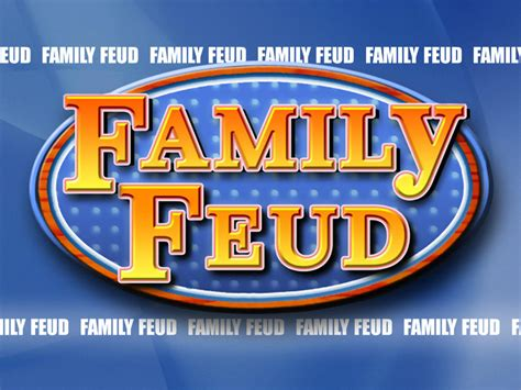 Family Feud Customizable Template by Customizable Family Feud Powerpoint Template