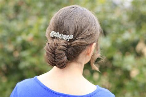 flipped fishtail braid updo prom hairstyles cute girls