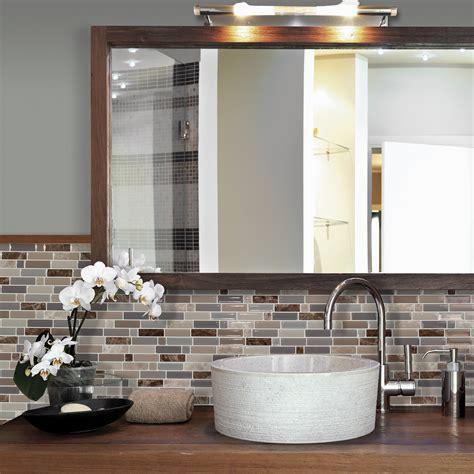 black and white bathroom carrelage adhésif pour salle de bain smart tiles
