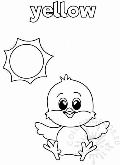 Coloring Worksheets Worksheet Kindergarten Yellow Toddlers Children