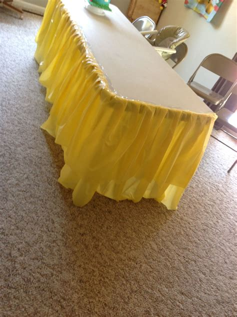 how to make a tablecloth for a rectangular table how to make a ruffle skirt from cheap plastic table cloths
