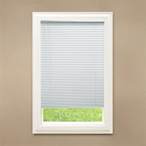 Vinyl Window Blinds by Hton Bay Cut To Width White Cordless 1 In Blackout
