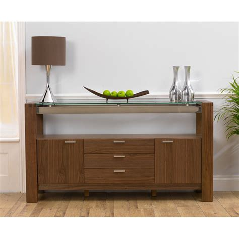 Walnut Sideboards by Harris Roma Solid Walnut And Glass 2 Door And 3
