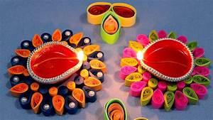 Paper Quilling Craft Tutorial # 6 - Diwali Special Diya