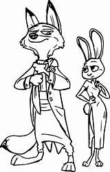 Zootopia Coloring Pages Bunny Wilde Hopps Balo Clipartmag Printable Disney sketch template