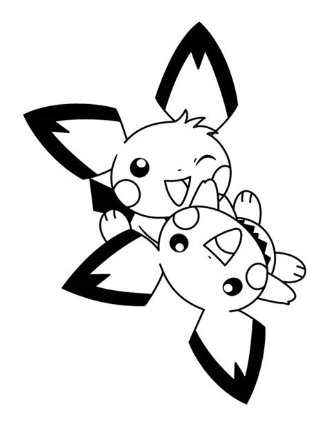 pichu playing  coloring page color luna