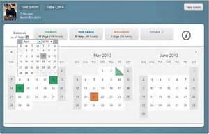 Employee Time Off Request Calendar