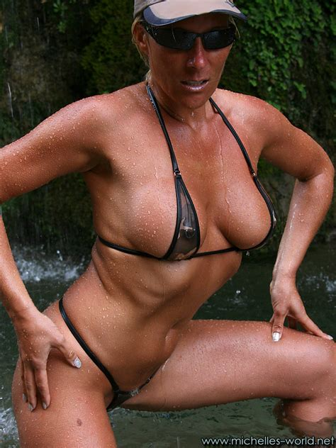Fitness Modell With Sheer Micro Bikini Pichunter