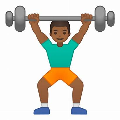 Emoji Lifting Weight Weights Lifter Person Skin