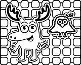 Moose Coloring Pages Linear Noggin Boys Wecoloringpage Halloween Printable Cool sketch template