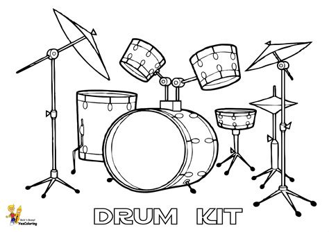 coloring set pounding drums printables free conga percussions
