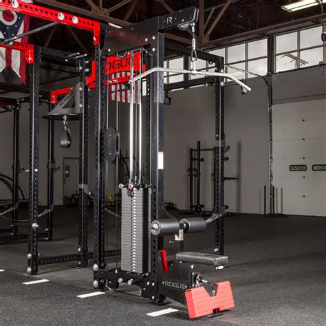 monster lat pull downlow row rack mounted rogue fitness