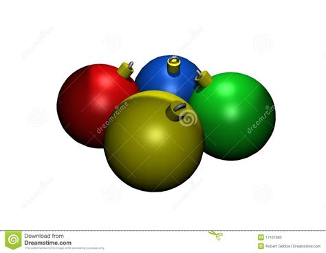 colored glass christmas ornaments colored glass ornaments in 3d stock photos image 17107583