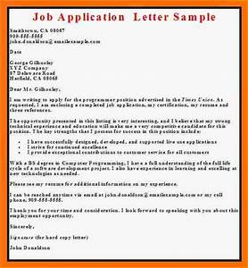 6 Simple Job Application Letter Basic Job Appication Letter Sample Cover Letters For Job Application Business Cover Letter For Job Application 9 Job Application Letter Examples Free Ledger Paper
