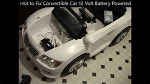 Hot To Fix Convertible Car 12 Volt Battery Powered Ride-on  Whispering
