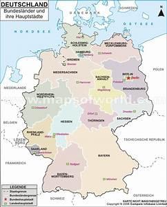 Rauchmelderpflicht Niedersachsen Welche Räume : deutschland karte bundesl nder mit st dten fli ~ Bigdaddyawards.com Haus und Dekorationen