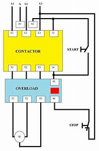 Direct On Line  Dol  Wiring Diagram For 3 230vac Control Circuit U2026