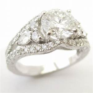 round cut antique style diamond engagement ring kr122 With diamond cut round vintage wedding engagement rings