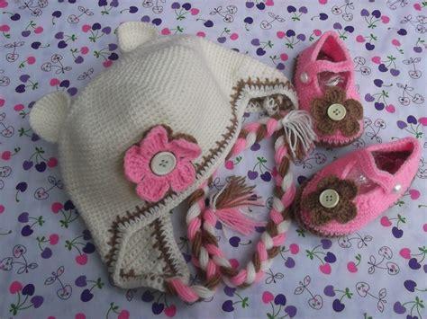 Zapatitos Y Gorritos En Juego Tejidos Crochet Para Bebe
