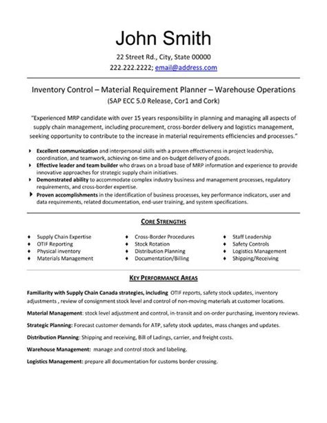 click     materials manager resume