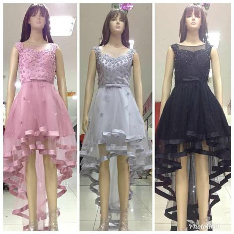 jual dress import gaun pesta pendek ekor baju pesta korea