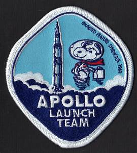 Snoopy Apollo Launch Team NASA Space Patch | Snoopy ...