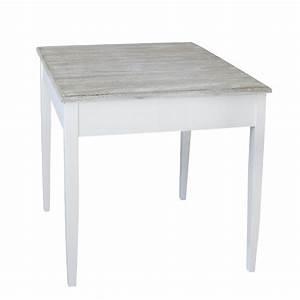 Kleiner Tisch Küche : tisch harbour wei braun kleiner esstisch im hamptons chic long island ~ Orissabook.com Haus und Dekorationen