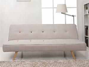 canape clic clac en tissu avec pieds bois l180cm laurene With tapis exterieur avec canapé convertible petite longueur