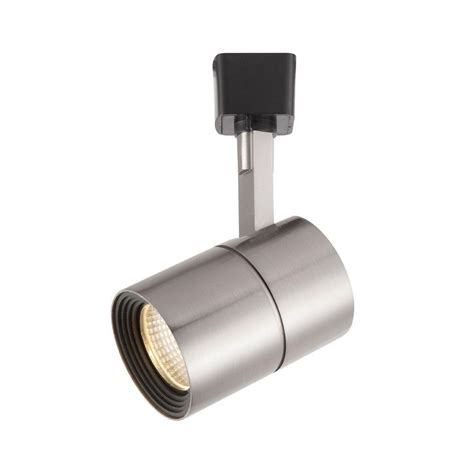 hton bay brushed nickel dimmable led cylinder track