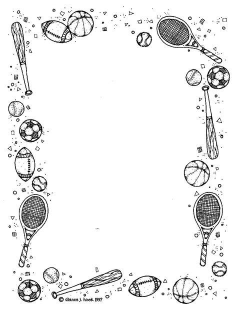 Kleurplaat Randen by Esports Alles In 1 Sport En Mode Page Borders Frame