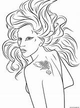 Gaga Lady Coloring Pages Perry Katy Printable Celebrity Drawing Pop Famous Games Dot Template sketch template