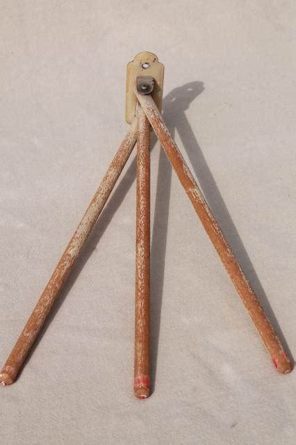primitive vintage  bar towel rack wall mount hanger  wooden rods