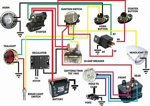 Wiring Diagram Database  Harley Ignition Switch Wiring Diagram