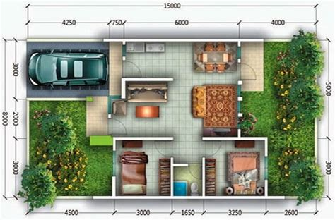 desain rumah  kamar  lantai  ideal  keluarga