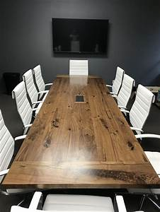 Hand, Crafted, 12, Ft, Walnut, Conference, Table, By, Furniture, By, Carlisle