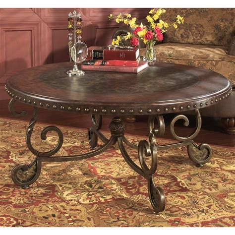 Get the best deals on wood round coffee tables. Signature Designs by Ashley 'Rafferty' Round Dark Brown Cocktail Table - Free Shipping Today ...