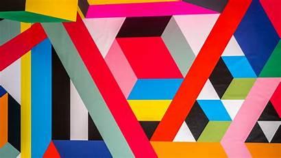 Geometric Colorful Pattern Bright Shapes Wallpapersmug 5k