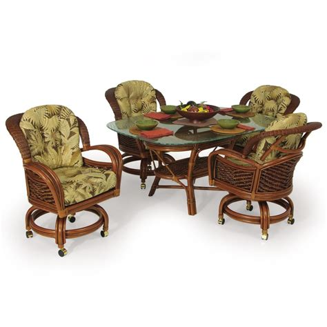 boca bay wicker and rattan caster dining set yelp