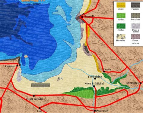 infos sur carte de la baie du mont st michel arts et voyages