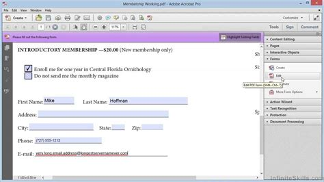 adobe acrobat xi creating forms tutorial creating a