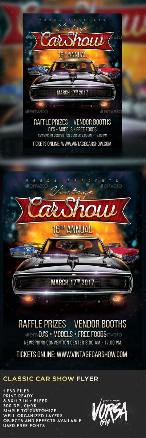 Show Template by Classic Car Show Flyer Template Psd Cars Car Shows