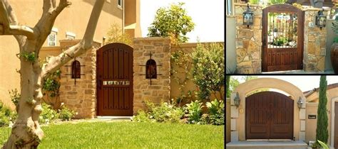custom wood gates  garden passages
