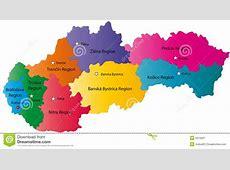 Map Of Slovakia Royalty Free Stock Photography Image