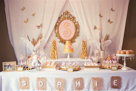 Pink And Gold Baby Shower Dessert Table 1 Baby Shower