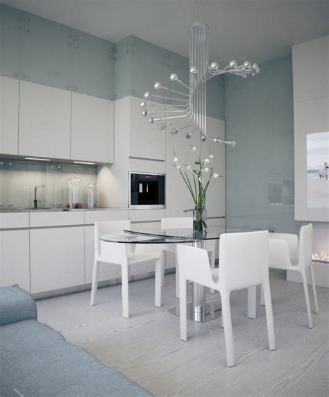 dining room chic white kitchen dining table idea with oval